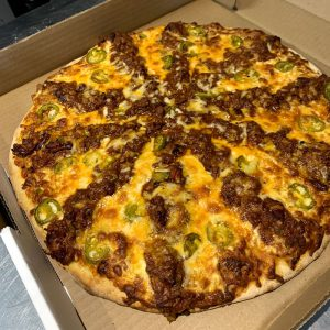 Beef Chili Pizza